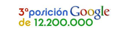 3ª posición en Google entre 12.200.000 resultados