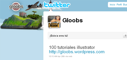 Sigue este blog a través de twitter